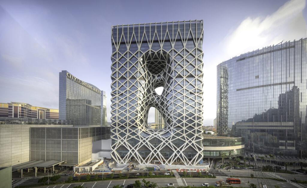 3d exterior rendering Morpheus Hotel image