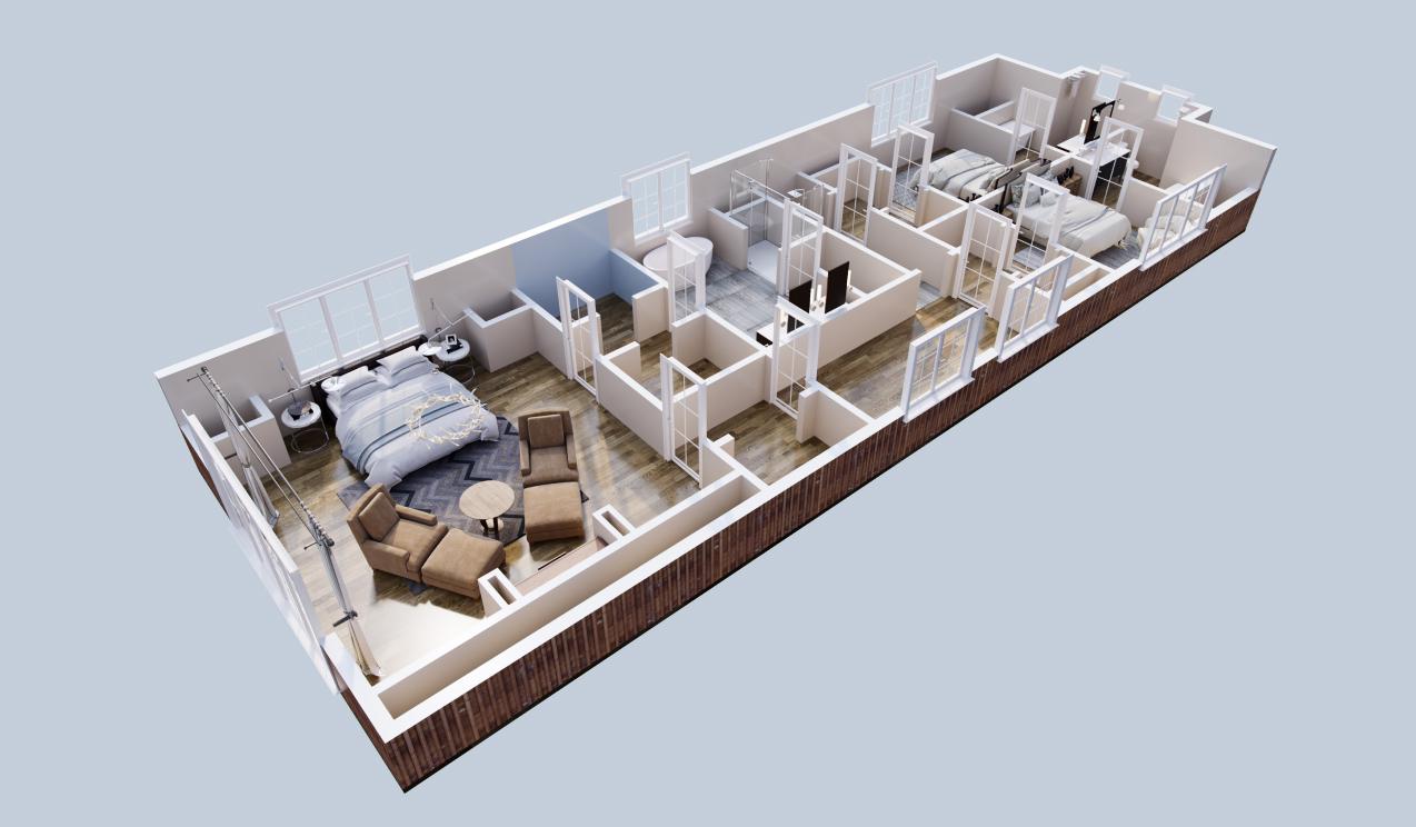 3d floor plan color