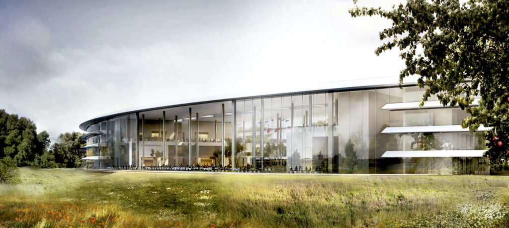Exterior Rendering Apple Campus front image