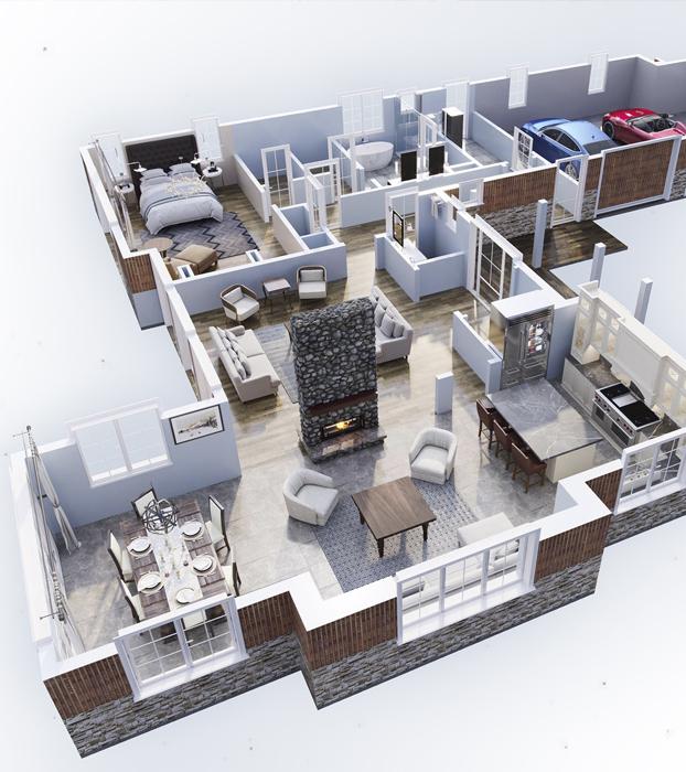 Floor plan big house
