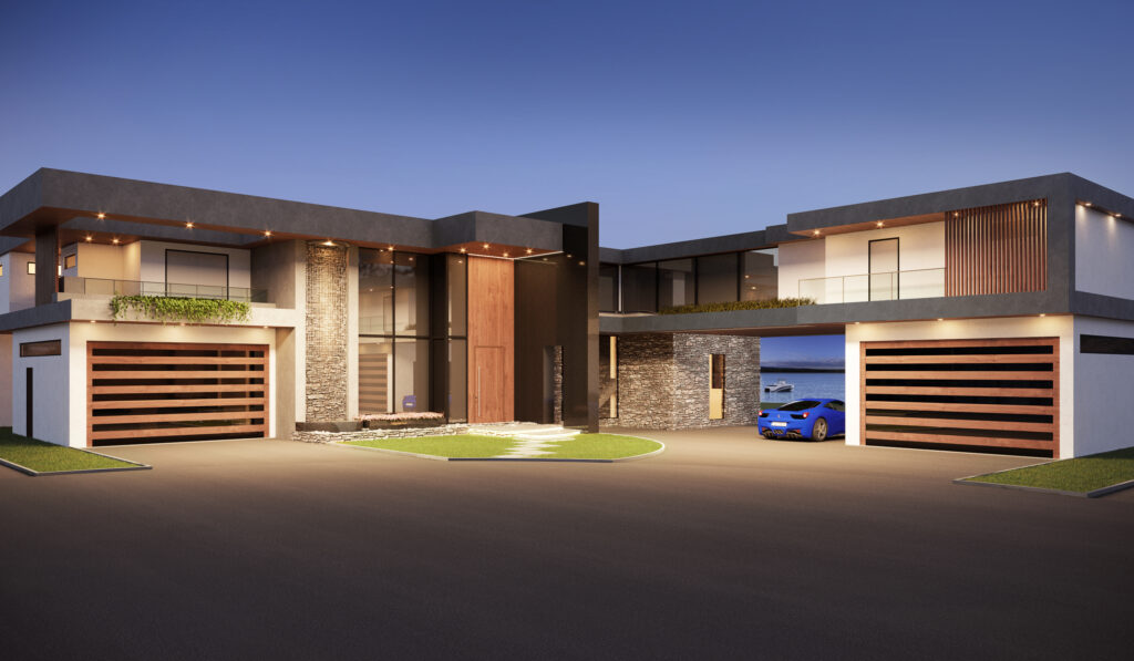 New residence evening front view_Highland