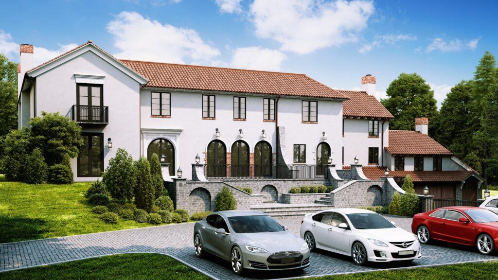 3d exterior rendering goldbloom image