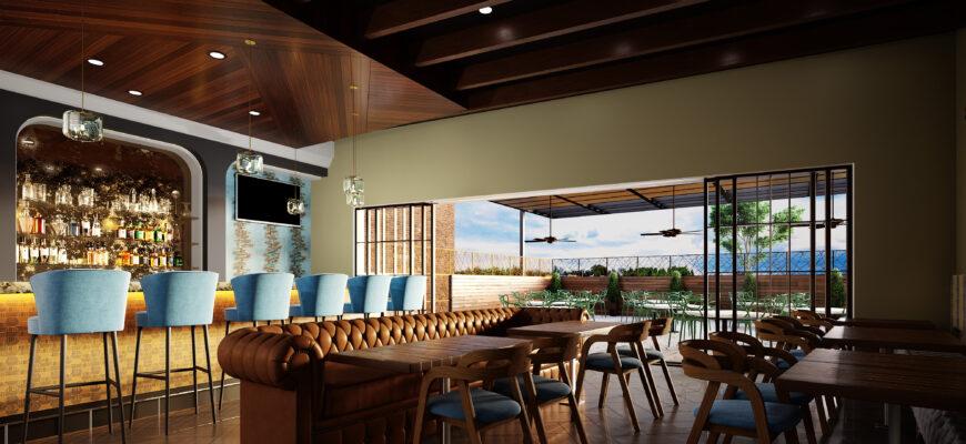3d interior rendering Blue Jay Bistro image