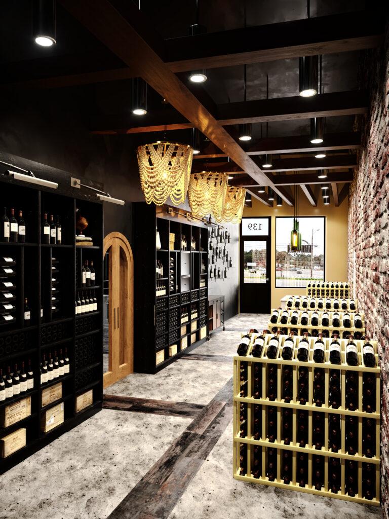 Blue Jay Bistro Shop wine interior image
