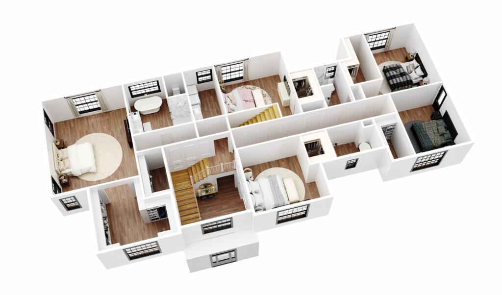 Ellison floor plan rendering image