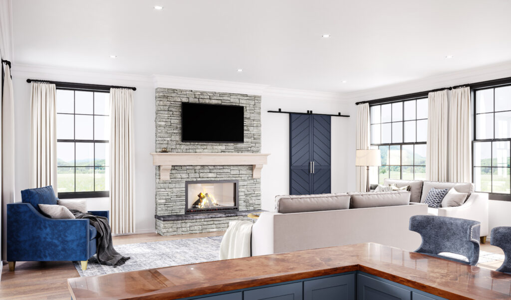 Family room rendering image