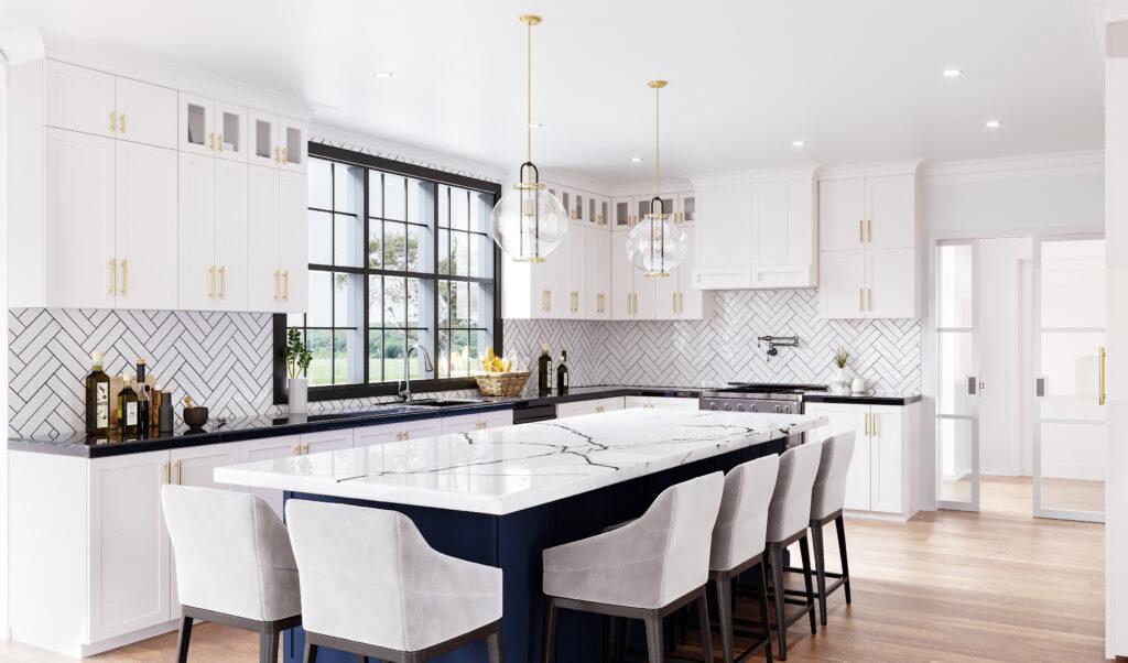 Kitchen 3d rendering interior image