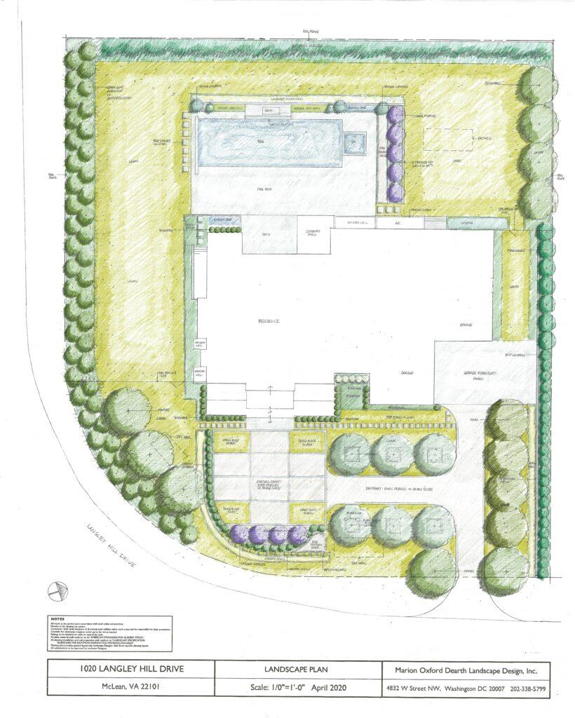 Langley Hill Landscape Plan Color Rendering images