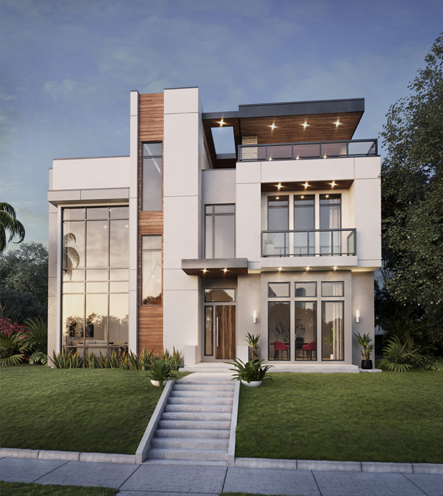 Stylish home perspective view atwood crescent heights