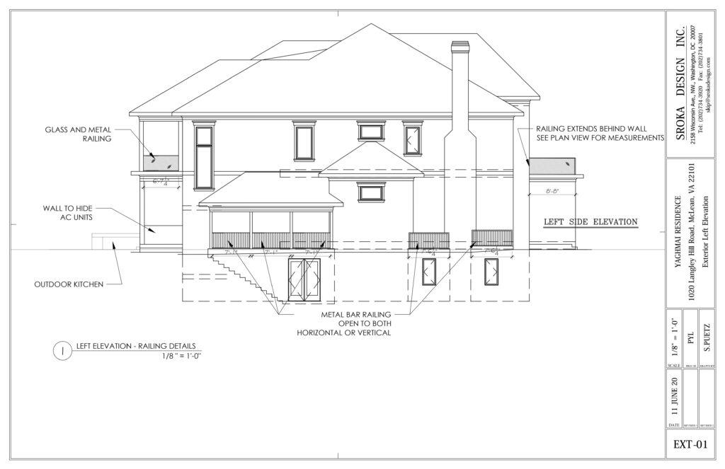 Yaghmai exterior scheme elevations left railings image